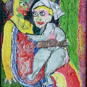 Femme  et enfant 116x81