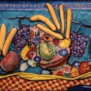 Panier de fruits 110x60